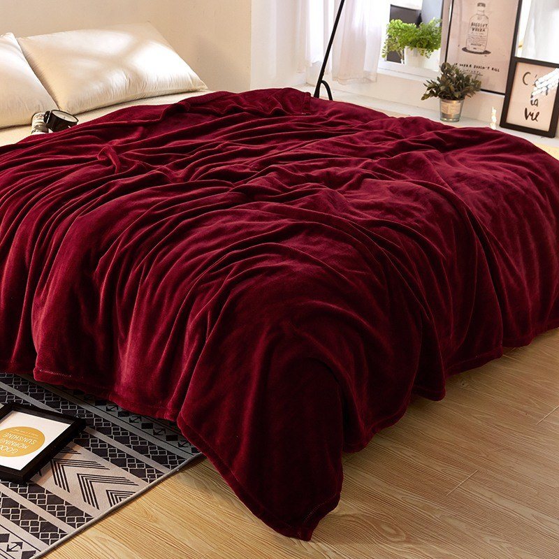 Burgundy-Solid-Color-Flannel-Fleece-Fluffy-Blanket-Full-Queen-Lightweight-Cozy-Couch-Bed-Blanket-Plush-Microfiber0