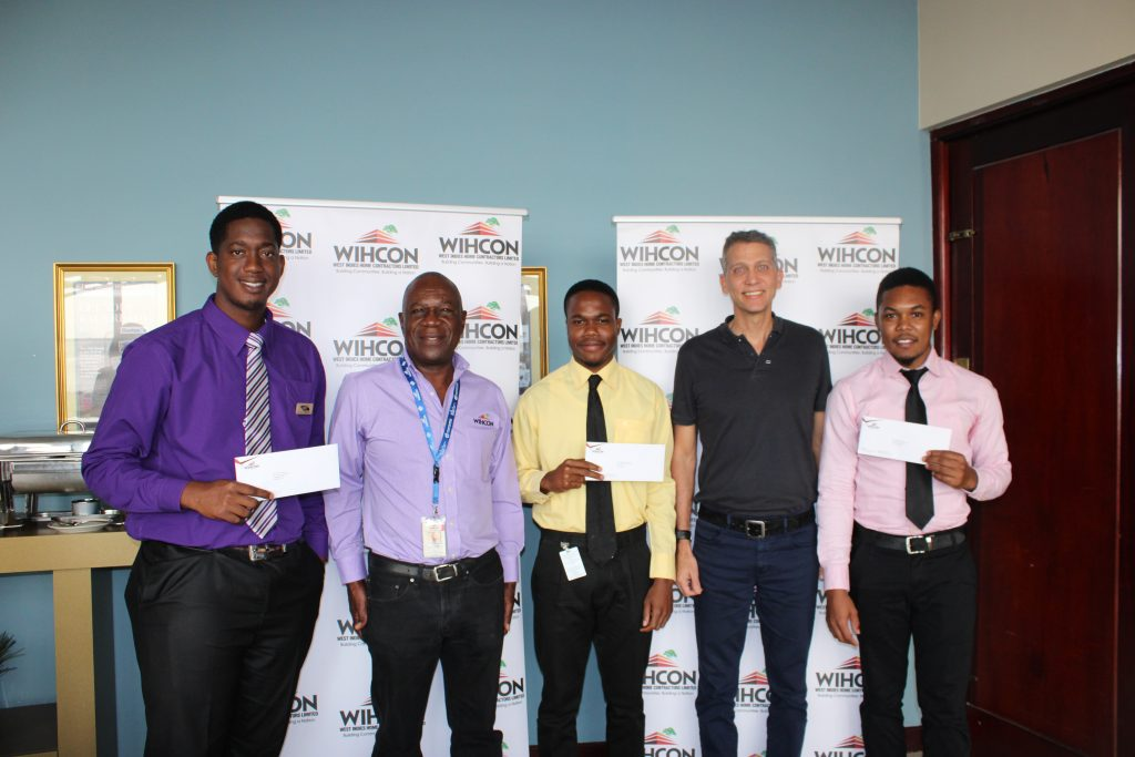 UTech Scholars - Pete Bryan, Michael Savage and Tajay Daley.